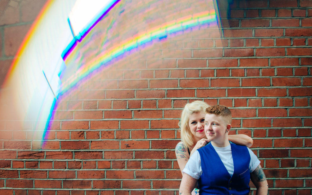 Sophie and Sinead's proposal in Dublin City Centre