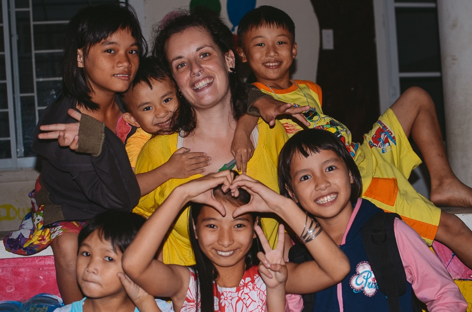 children in Vietnam orphanage smiling