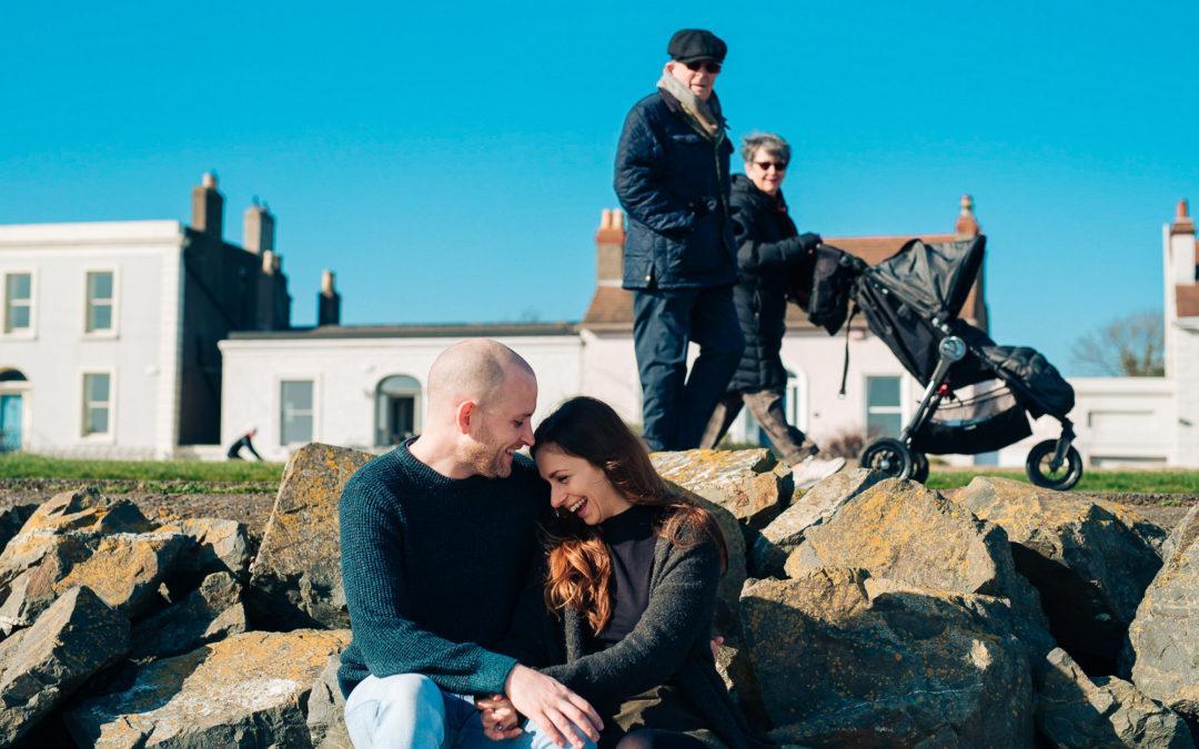 Couple / Family Shoot at Sandymount Strand; Julia, Faelan & Hans